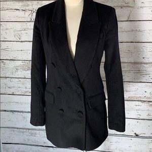 ZARA WOMAN black Pea coat button up